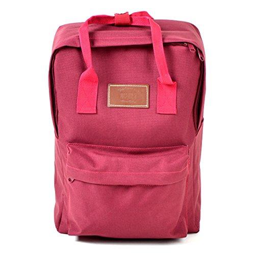 Lässiger Unisex Rucksack - Vancouver - Backpack für Damen & Herren, 12L, Daypack für Schule, Universität, Reisen, Wandern und Camping aus hochwertigem 600D Polyestergewebe von Ocean5, Farbe: Rot