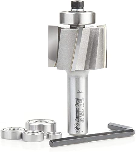 lowest Amana Tool high quality new arrival 49352 Multi-Rabbet Five Different Rabbet Depths 1-3/8 D x 1 CH x 1/2 Inch SHK Router Bit outlet sale