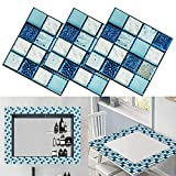 20pcs Mosaic Wall Tile Stickers, Peel and Stick DIY Home Decorative for Kitchen & Bathroom Backsplash Stamp Pattern 3.94 x 3.94 Inch