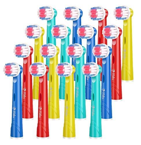 Cabezales para Cepillo de Dientes Infantiles de Milos Compatibles con Cabezales Oral B Paquete de 16 Cabezales Recambio Oral B Niños
