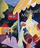August Macke 2022: Kunstkalender mit Werken des Künstlers August Macke. Großer Wandkalender mit Meisterwerken aus dem Expressionismus. Format: 45,5 x 55 cm, Foliendeckblatt