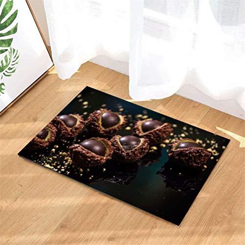 LoExTdAF Delizioso Cioccolato. Tappetini per Porte. Tappeto Indoor. Doccia Bagno Tappetini D'Ingresso Tappeti Zerbino, Ingressi sul Pavimento, Zerbini Antiscivolo,40X60Cm.