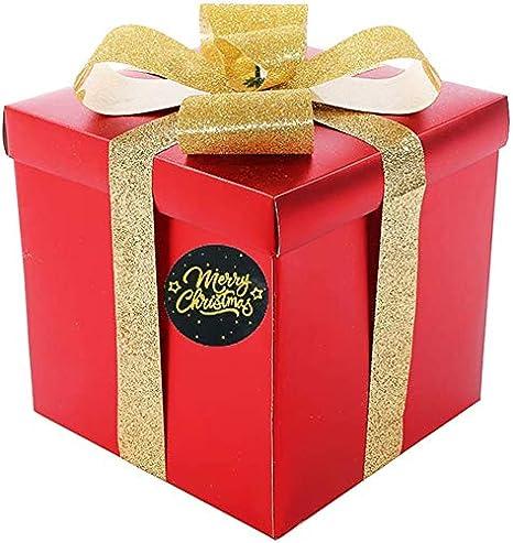 lingua italiana non garantita sacchetti di caramelle confezioni regalo Etichette adesive per biglietti di ringraziamento con scritta Merry Christmas per biglietti di auguri fatti a mano