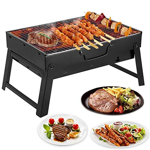 Dpliu barbecue Barbecue Grill Portable Charcoal Barbecue Table Camping Outdoor Garden Grill Utensil Foldable Charcoal Bbq Grill Set it is The Best Choice for Outdoor Grilling
