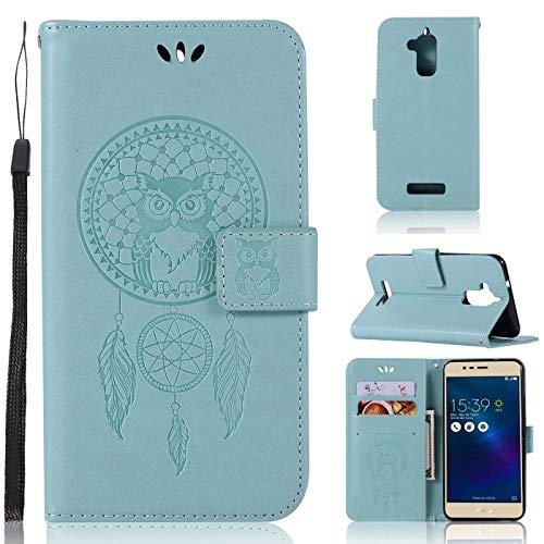 ASUS Zenfone 3 Max ZC520TL Lederhülle für ASUS Zenfone 3 Max ZC520TL (Leder, geprägtes Blumenmuster) mit Kreditkartenfach für ASUS Zenfone 3 Max ZC520TL