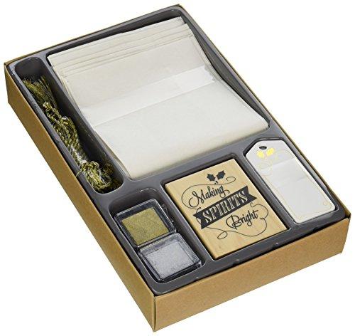 Inkadinkado estampage Papier Kit de 15 cm x 10-inch-Holiday vin Bouteille Sac
