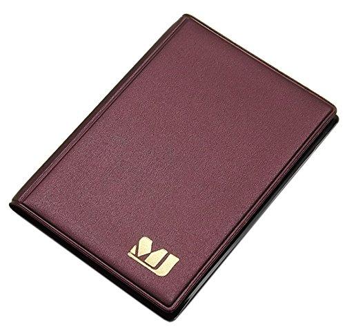 Praktisches Kredit- und Visitenkartenetui 12 Fächer MJ-Design-Germany Made in EU in verschiedenen Farben (Weinrot / Gold )