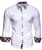 Kayhan Camisas Hombres Camisa Hombre Manga Larga Ropa Camisas de Vestir...
