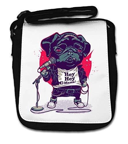 Hey Hey Mama Stand Up Comedian Pug Small Shoulder Bag