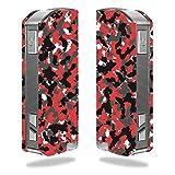 Decal Sticker Skin WRAP Red & Black Urban Camo Custom for Pioneer4you iPV Mini 2 70W