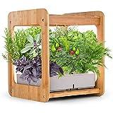 WeiX Sistema de Cultivo Hidropónico,Smart Garden Maceta,gabinete de Caja de Cultivo de Plantas Ligeras de Crecimiento de jardinería Interior hidropónico, con macetero de Marco Kit de Sistema