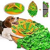 AWOOF Schnüffelteppich Hunde Intelligenzspielzeug für Hunde Waschbar Faltbar rutschfest Hundespielzeug Schnüffelspielzeug Blattartiges Schnüffelteppich