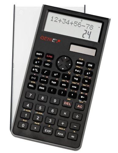 Genie 82 SC technisch-wissenschaftlicher Rechner (240 Funktionen, 10 Stellen, 2 zeiligem Display, Inkl. Schutzdeckel) schwarz