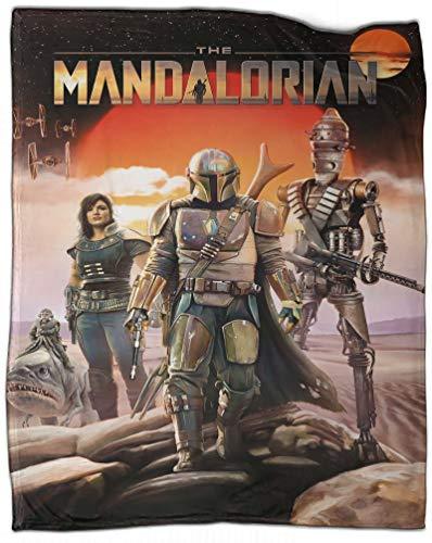 Manta suave de peso ligero The Mandalorian Season 2 Din Djarin y todos los papeles para adultos, niños o mascotas, 130 x 180 cm