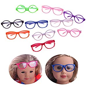 Doll Accessories -- The 18 inch doll glasses are perfect for your kids to dress up their girl dolls. Pretend Play -- Wonderful doll accessory and great pretend toy for little girls to play. Our doll accessories provide years of wear and play, without...