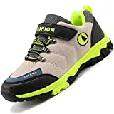 Unitysow Zapatos de Niños Zapatillas de Senderismo Botas de Montaña Impermeables Deportiva al Aire Libre Senderismo Calzado de Trekking EU31-40,Beige,EU31