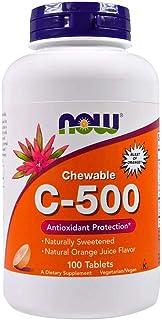 Now Foods Chewable C-500 Orange Juice Flavor - 100 Tablets