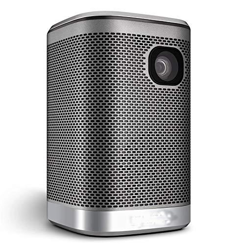 Yamyannie Projektoren L2 Tragbarer Projektor 4500lumen 12000mAh Batterie HiFi-Lautsprecher für 3D-LED-Beamer-Unterstützung 4k Home Cinema-Projektor für das Kino (Farbe : Black, Size : 140x85x85mm)