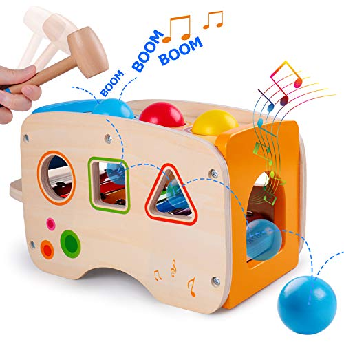rolimate Hammering Pounding Toys Wooden Educational Toy Xylophone...