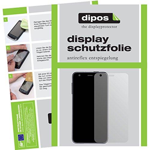 dipos I 2X Schutzfolie matt kompatibel mit Wiko Freddy Folie Bildschirmschutzfolie