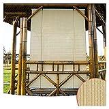 XJJUN Außenrollo, Sichtschutz Atmungsaktives Gewebe 90% UV-Beständigkeit Reißfestigkeit, Für Gartenterrasse Pergola-Pavillon (Color : Beige, Size : 1.5x2m)
