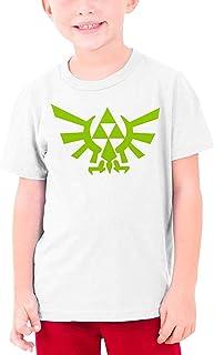 guoweiweiB Camisetas de Manga Corta para niño, The Legend of Zelda Logo Teenage Round Neck T-Shirt for Girls Boys