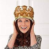 UKMASTER 1PC Inflable Corona PVC 21 x 14cm Corona Hinchable Cumpleaños Corona para Selfie para Fiesta Divertida Disfraz de Día de Rey