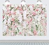 RUINI Wandhintergr& rosa, weiß, Rosen, für Hochzeit, Zeremonie, Jahrestag, Party, Dekoration, Hintergr& für Neugeborene, Erwachsene, Portrait, Fotoautomaten, Requisiten 2,1 x 1,5 m