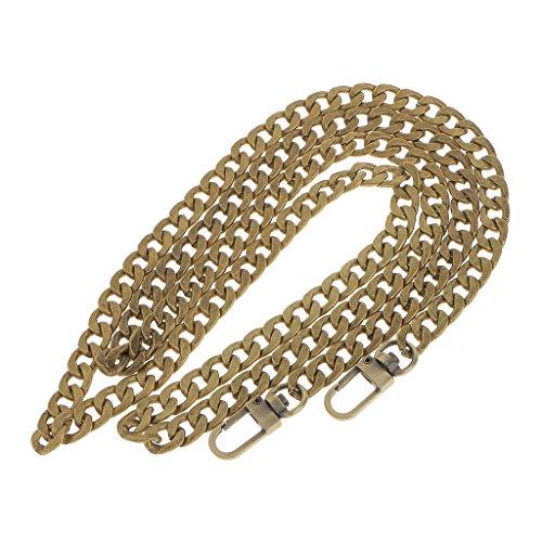 Baoblaze Taschenkette Taschengurt Schulterriemen Metall Strap Schultergurt Tragegurt für Damen Taschen Handtaschen - Bronze, 120 cm