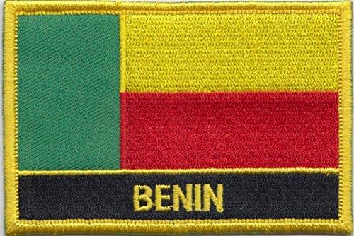 Flagge von Benin, rechteckig, mit Stickerei/Aufnäher, zum Aufnähen oder Aufbügeln, exklusives Design von 1000 Flaggen