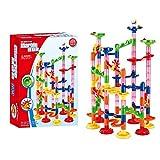 ShiftX4 Regalos de Navidad para niños, Marble Run 3D laberinto pista juguete creativo colorido apilable bloques pequeños niños adolescentes cumpleaños Año Nuevo regalo - 105 piezas
