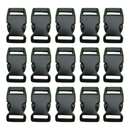 3 hebillas de barra diapositivas X 50 para 25mm Cincha De Plástico Negro Correas Práctico