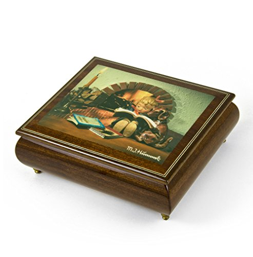 Handcrafted Italian Ercolano Musical Jewelry Box - Over 400 Song Choices - Proud Moments by MI Hummel Rock of Ages Christian Version
