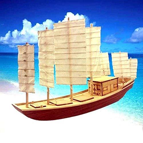 XIUYU Wohnzimmer Dekorationen Wasserfahrzeug Modellbau Kits Taihu Sieben Fan Wooden Sailboat Sammleredition Puzzle Assembled Static Chinesisches altes Segelschiff Modell