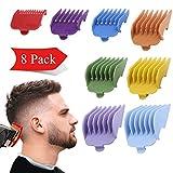 Accessoires de tondeuse à cheveux, 8 Peigne professionnel de tondeuse à cheveux sabot 3-25 mm pour tondeuses à cheveux Wahl, Guide de coupe cheveux universel Peignes pour outils de salon de coiffure