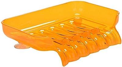yinpinxinmaoプラスチックソープディッシュホルダー浴室シャワーソープボックスストレージオーガナイザーラックで吸引カップ One size オレンジ 8100493