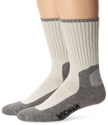 Wigwam At Work Durasole Pro 2-Pack S1349 Sock, White/Grey - LG