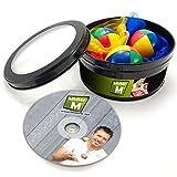 Mister M ✓ 3 Jonglierbälle ✓ 3 Jongliertücher ✓ Lern DVD in Einer Geschenkbox ✓ Das Ultimative Jonglier Set