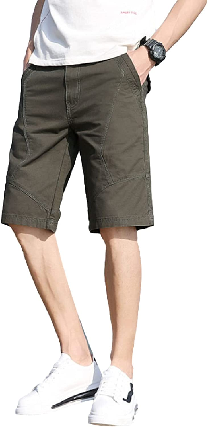 Segindy Men's Casual Shorts Summer Thin Fashion Solid Color Large Size Comfortable Wild
