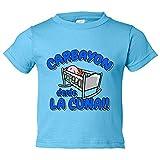 Camiseta niño Carbayón desde la cuna Oviedo fútbol - Celeste, 5-6 años