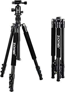 ZoMei Camera Tripod for DSLR with 360 Degree Ball Head Lightweight Alluminum Alloy Tripod for Canon Nikon DSLR and Camcorders(Black)