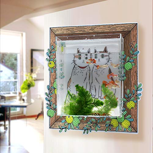 D&C home store Wall Mounted Planters, Wall Hanging Fish Tank, Acrylic Transparent Storage, Kitchen Wall décor