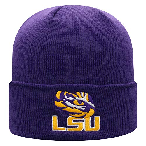 Top of the World Lsu Tigers Men's Cuffed Knit Hat Team Icon, One Fit