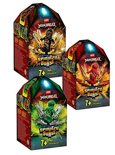 LEGO 3er-Set Ninjago Spinjitsu Burst: 70685 Coles Spinjitzu-Kreisel + 70686 Kais Spinjitzu-Kreisel + 70687 Lloyds Spinjitzu-Kreisel