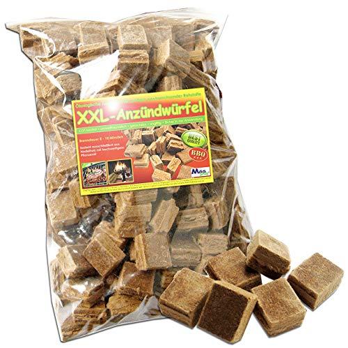 MGS SHOP 200 Stück XXL - Anzündwürfel ökologische Kamin