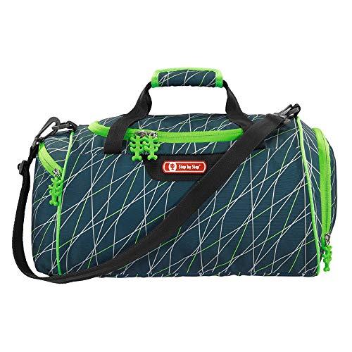 """Step by Step Sporttasche """"Jumping Spider"""", grün, mit Nasswäschefach, Abnehmbarer Tragegurt, Verstellbarer Schultergurt, für Jungen 1. Klasse, 13L"""