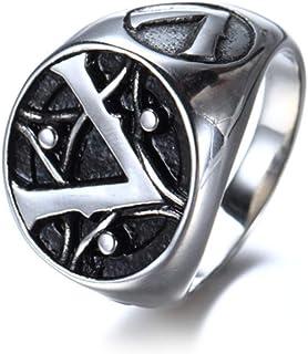 Hanessa Bijoux pour homme en argent Assassins Creed signe dAssassine Gamer en cuir synth/étique pour lami//homme