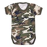 Unisex-Baby-Strampler im Militär-Stil, Tarnmuster, für 0–24 Monate Gr. 12-18 Monate, camouflage