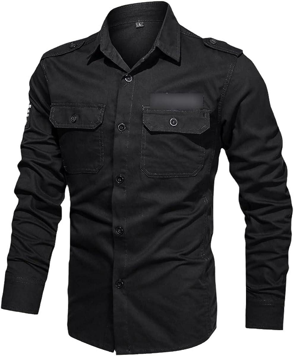 Spring Military Uniform Men's Shirt 100% Pure Cotton Long-Sleeved Shirt Military Uniform Shirt