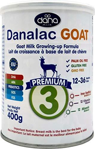 DANALAC PREMIUM Lait de croissance pour bébé à base de lait de Chèvre 3ème âge - pour jeunes enfants et nourrissons de 1 à 3 ans - Formule EU-2020 (400 g - Lot de 1)